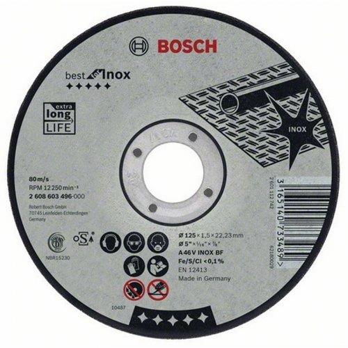 Dělicí kotouč rovný na nerez Best for Inox A 30 V INOX BF, 125 mm, 2,5 mm Bosch 2608603504