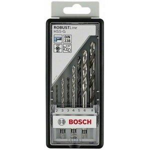7dílná sada vrtáků do kovu Robust Line HSS-G, 135°šestihranná stopka 2; 3; 3; 4; 5; 6; 8 mm Bosch 2607019922