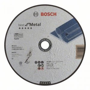 Dělicí kotouč rovný Best for Metal Rapido A 46 V BF, 230 mm, 1,9 mm Bosch 2608603522