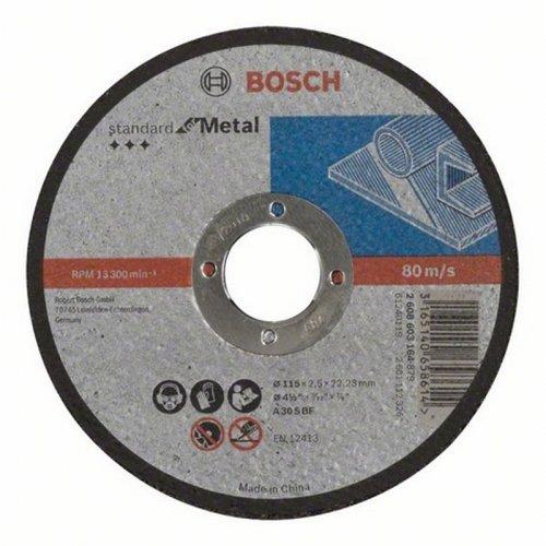 Dělicí kotouč rovný Standard for Metal A 60 T BF, 115 mm, 22,23 mm, 1,6 mm Bosch 2608603163