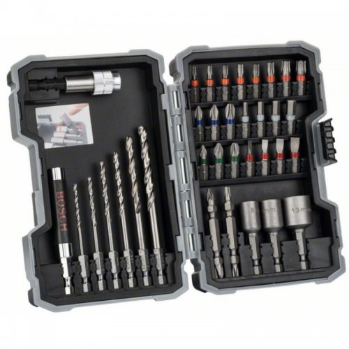 35dílná sada vrtáků a šroubovacích bitů kov Bosch 2607017328