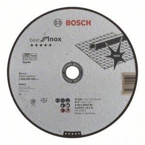 Dělicí kotouč rovný na nerez Best for Inox Rapido A 60 W INOX BF, 115 mm, 0,8 mm Bosch 2608603486