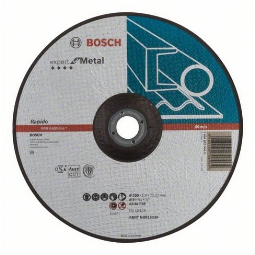 Dělicí kotouč profilovaný Expert for Metal Rapido AS 46 T BF, 230 mm, 1,9 mm Bosch 2608603404