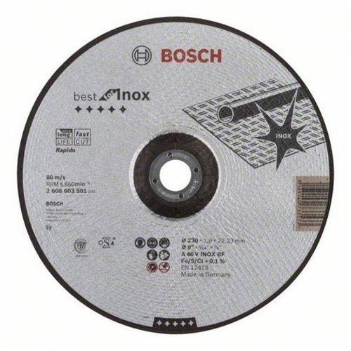 Dělicí kotouč profilovaný na nerez Best for Inox Rapido A 60 W INOX BF, 125 mm, 1,0 mm Bosch 2608603493