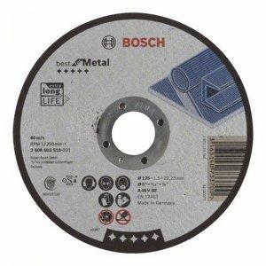 Dělicí kotouč rovný Best for Metal A 46 V BF, 125 mm, 1,5 mm Bosch 2608603518