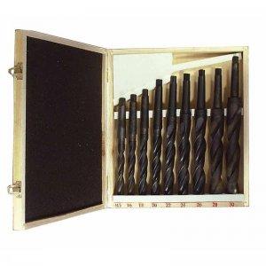 Vrtáky HSS s kuželovou stopkou MK3 9ks OPTIMUM 3051003