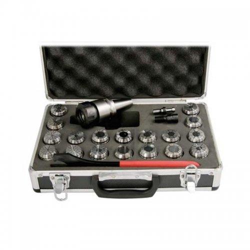 Kleštinový upínač ISO40/ER32/M16 18ti dílná sada OPTIMUM 3352056
