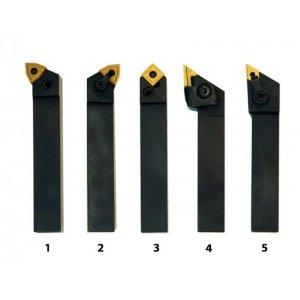 Soustružnické nože HM 20 mm, sada - 5 ks
