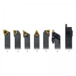 Soustružnické nože HM 8 mm 7 ks v dřevěné krabici OPTIMUM 3441011
