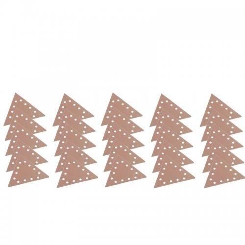 Brusný papír na suchý zip SELECT P80/100/120/150/180 trojúhelník rozměr 290m 5x5ks FLEX 370959