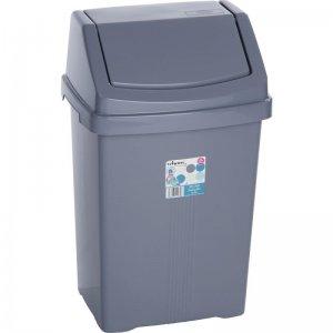 Odpadkový koš 25l stříbrný WHAM 11750