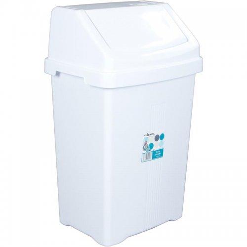 Odpadkový koš 25l bílý WHAM 12517