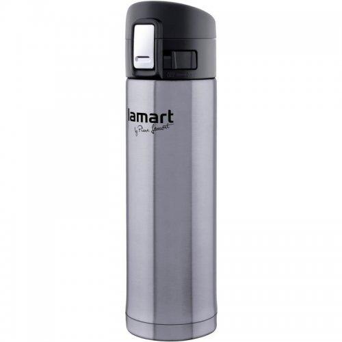 Termoska s pojistkou stříbrná Branche 0,42L LAMART LT4008