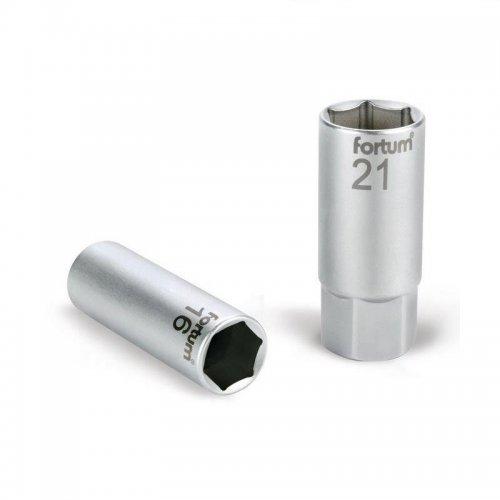 """Hlavice nástrčná na zapalovací svíčky 1/2"""" 21mm L 65mm FORTUM 4700901"""