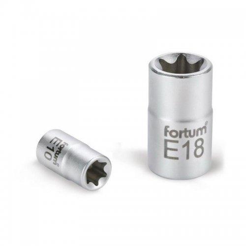 """Hlavice nástrčná vnitřní TORX 1/2"""" E 10 L 38mm FORTUM 4700700"""