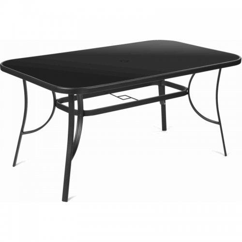 Zahradní stůl s černou skleněnou deskou FIELDMANN FDZN 5030