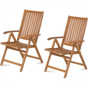 Sada 2 skládacích polohovatelných židlí FIELDMANN FDZN 4001-T