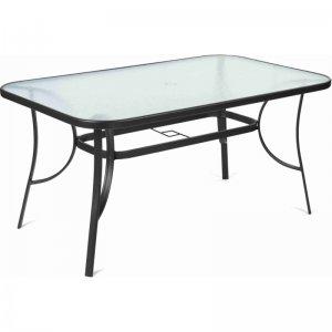Zahradní stůl s čirou skleněnou deskou FIELDMANN FDZN 5020