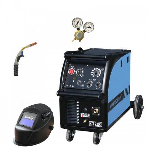 Svařovací stroj + hořák KTR15, ventil, maska KÜHTREIBER KIT 2200 SET