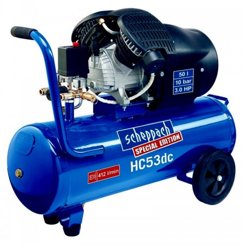 Dvoupístový olejový kompresor Scheppach HC 53 dc