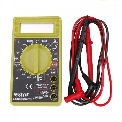 Multimeter digitální (U, I, R) s akustickou signalizací CE EXTOL CRAFT 600011