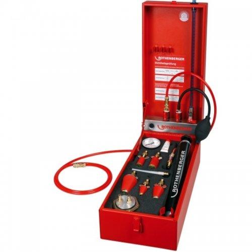 Přístroj na zkoušky plynového potrubí se zátkou plynoměru ROTHENBERGER ROTEST GW 150/4