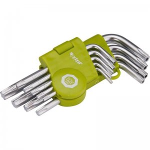 L-klíče TORX krátké sada 9ks T 10-50 EXTOL CRAFT 66010