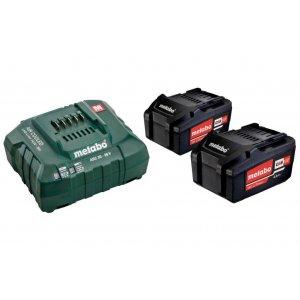 Basic-Set Metabo 2 akumulátorů Li-Power 18 V/4,0 Ah + nabíječka ASC 30-36 V