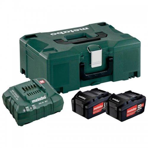 Basic-Set Metabo 2 akumulátorů Li-Power 18 V/4,0 Ah + nabíječka ASC 30-36 V + kufr