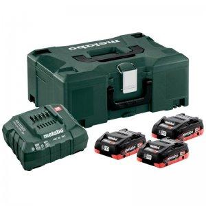 Basic-Set LiHD Metabo 3 akumulátorů 18 V/3 x 4,0Ah + nabíječka ASC 30-36 V + kufr