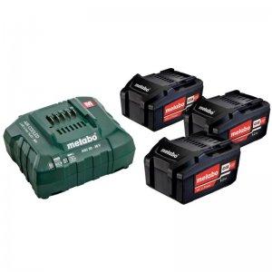 Basic-Set Metabo 3 akumulátorů Li-Power 18 V/5,2 Ah + nabíječka ASC 30-36 V