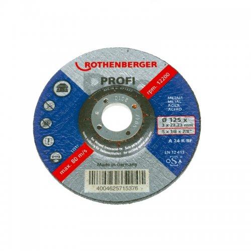 Řezací kotouče Metall Profi profil 115x3x22mm ROTHENBERGER 71536