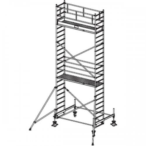 Pojízdné hliníkové lešení do 7,4 m Stabilo 100, 2,5 x 0,75 m