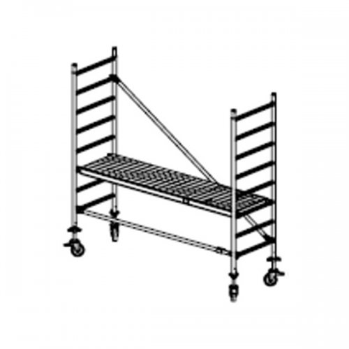 Pojízdné hliníkové lešení do 3 m Stabilo 10, 2 x 0,75 m