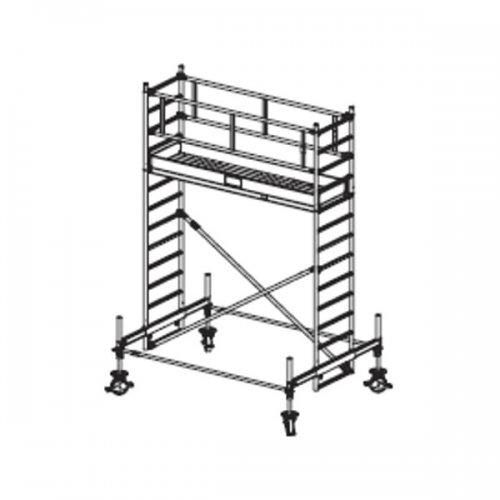 Pojízdné hliníkové lešení do 4,4 m Stabilo 100, 2 x 0,75 m