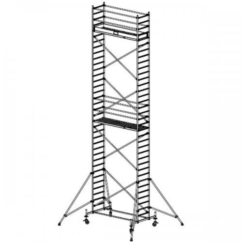 Pojízdné hliníkové lešení do 10,4 m Stabilo 10, 2 x 0,75 m