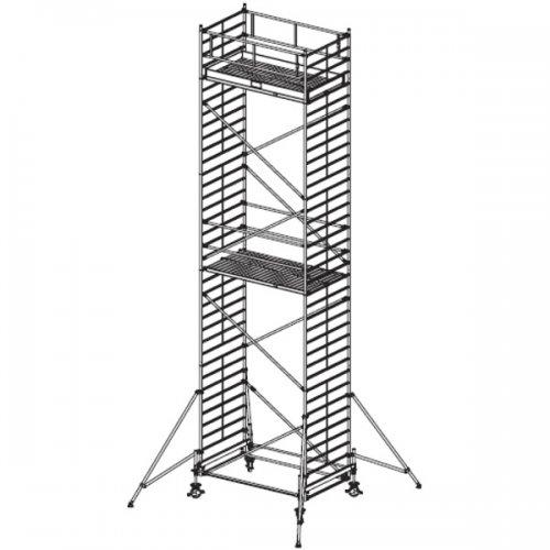 Pojízdné hliníkové lešení do 10,4 m Stabilo 500, 2 x 1,5 m