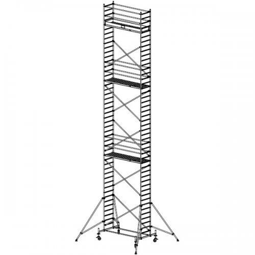 Pojízdné hliníkové lešení do 13,4 m Stabilo 10, 2 x 0,75 m