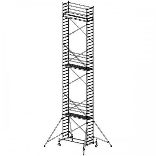 Pojízdné hliníkové lešení do 12,4 m Stabilo 10, 2 x 0,75 m