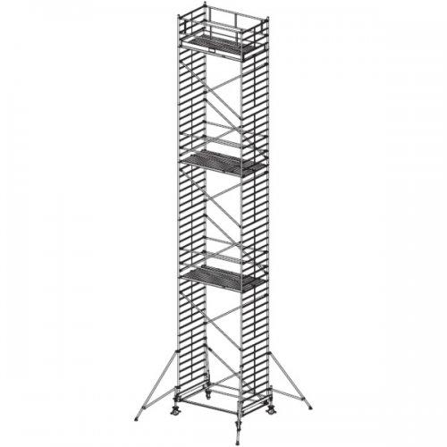 Pojízdné hliníkové lešení do 14 m Stabilo 500, 2,5 x 1,5 m