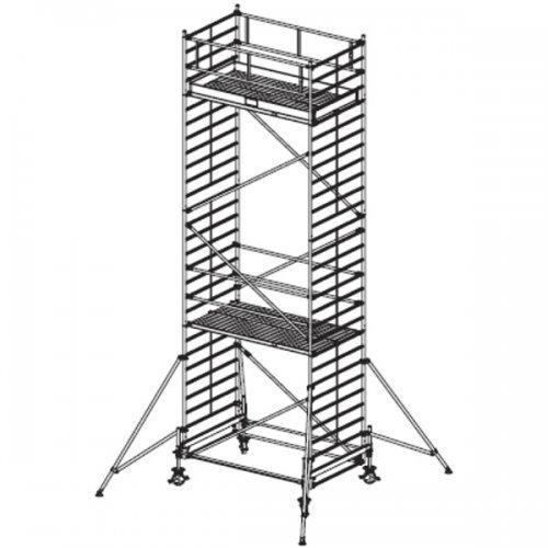 Pojízdné hliníkové lešení do 8,4 m Stabilo 500, 2,5 x 1,5 m