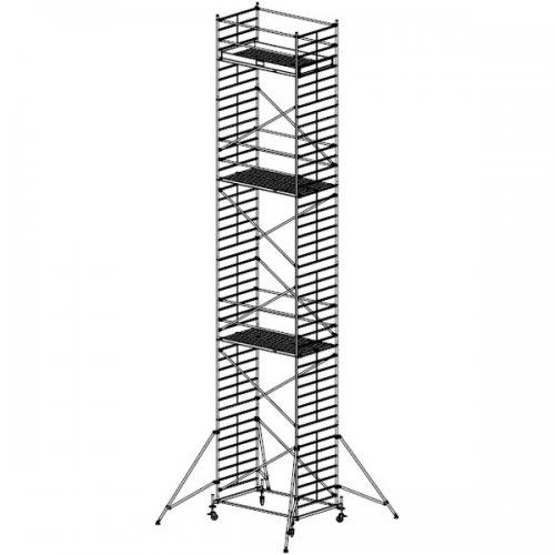 Pojízdné hliníkové lešení do 13,4 m Stabilo 50, 2,5 x 1,5 m