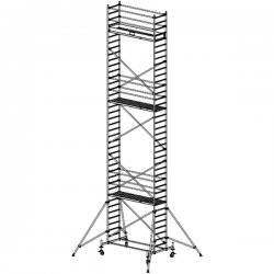 Pojízdné hliníkové lešení do 11,4 m Stabilo 10, 2,5 x 0,75 m