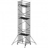 Pojízdné hliníkové lešení do 11,4 m Stabilo 50, 2,5 x 1,5 m