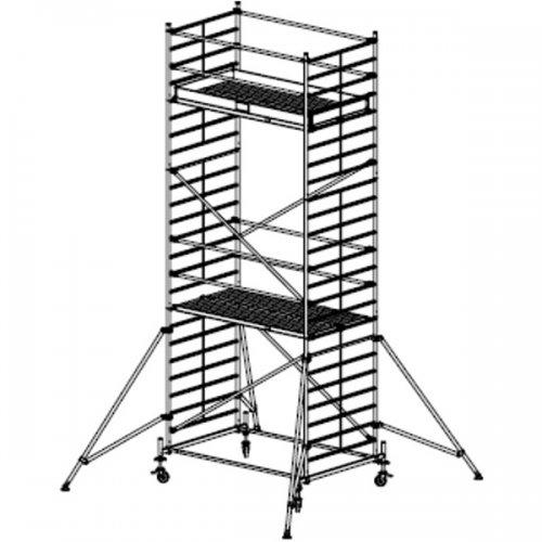 Pojízdné hliníkové lešení do 7,4 m Stabilo 50, 2,5 x 1,5 m