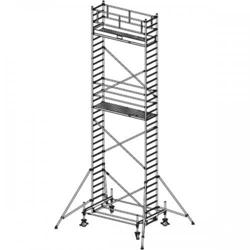 Pojízdné hliníkové lešení do 9,4 m Stabilo 100, 3 x 0,75 m