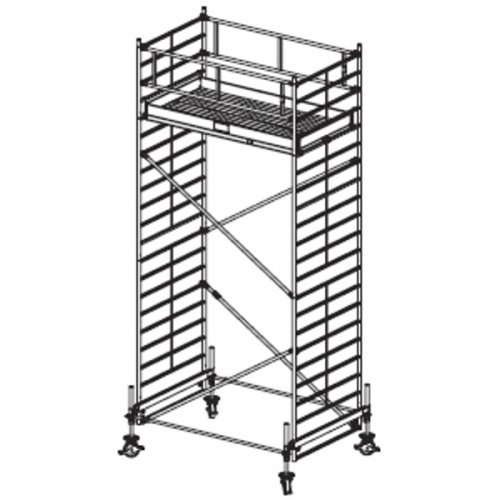 Pojízdné hliníkové lešení do 6,4 m Stabilo 500, 3 x 1,5 m