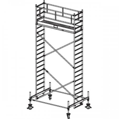 Pojízdné hliníkové lešení do 6,4 m Stabilo 100, 3 x 0,75 m
