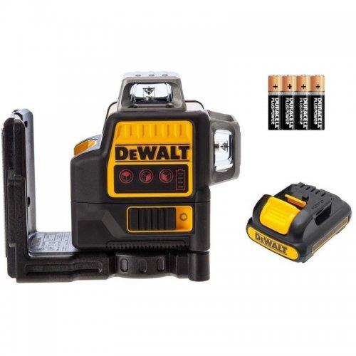 Aku křížový laser 2x360° s adaptérem na připojení 4 x AA DeWALT DCE0811LR