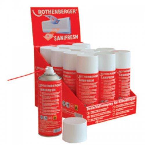Desinfekční čistící sprej ROTHENBERGER Sanifresh 12 x 400 ml